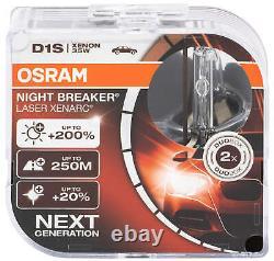 2X D1s Xenon Brûleur Lampe de Phare Osram Xenarc Lampes Nuit Breaker Las An