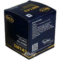40x Original Sct Filtre à Huile Sm 143 + 40x Sct Moteur Flush Rinçage de Moteur