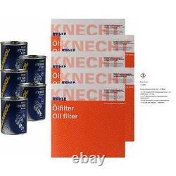 5x Original Mahle / Knecht Filtre à Huile Oc 235 + 5x Sct Moteur Flush Rinçage