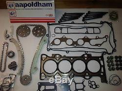Ford Focus & C-Max 1.8 16v Kit Chaîne Distribution + Jeu de Joint Culasse & Tête