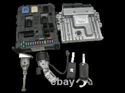 Jeu Unité de commande du moteur ECU BSI Serrure dallumage Clé pour 407 SW 6E 08