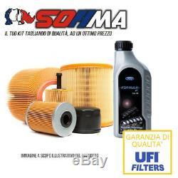 KIT d'entretien 4 filtres + 4lt HUILE 5W30 FORD Focus II 1.6 TDCI 90 CV KF0033/