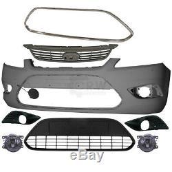 Kit Pare-Chocs Apprêté+Brouillard+Grille+Équipement Ford Focus II