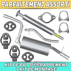 Kit de pot déchappement Silencieux Ford Focus II 2 MK2 1.6i Hayon