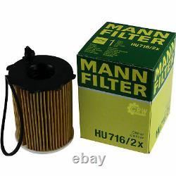 MANN-FILTER Set Filtre à Huile à Air pour Carburant Mazda 3 Berline Bl 1.6