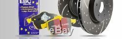 Pd13kf271 EBC FREIN AVANT Kit YellowStuff COUSSINETS & rainure disques