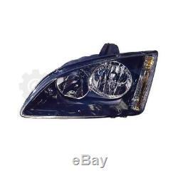 Phare Halogène Kit Ford Focus 01.05-07.07 Noir H7/H1 sans Moteur Zam