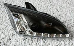 Phares Kit Ford Focus Mk2 Lumière de Circulation Diurne Aspect Feux Diurnes Noir