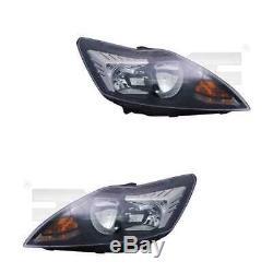 Phares Kit Gauche et Droite Chrome/Noir H7/H1 pour Ford Focus II car Sécurité