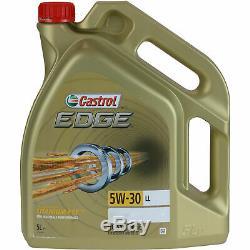 Révision Filtre Castrol 10L Huile 5W30 pour Ford Focus III B7 1.6 Flex S 63