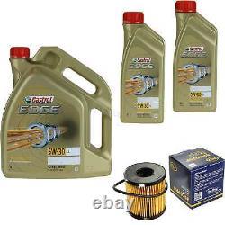 Révision Filtre Castrol 7L Huile 5W30 Pour Ford Focus III B7 1.6 Flex S
