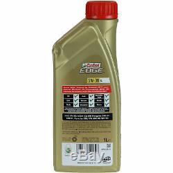 Sketch D'Inspection Filtre Castrol 7L Huile 5W30 Pour Ford Mise III B7 1.6 Flex