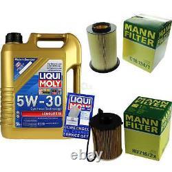 Sketch D'Inspection Filtre Huile Liqui Moly 5L 5W-30 Pour Ford Focus III Break