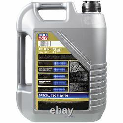 Sketch D'Inspection Filtre LIQUI MOLY Huile 7L 5W-30 Pour Ford Mise Break Dnw