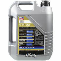 Sketch D'Inspection Filtre Liqui Moly Huile 7L 5W-30 pour Volvo V50 Mw 1.6 D V40