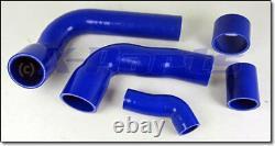 Stimuler le Tuyau de Pression Kit Turbo Ford Focus Rs MK2 Silicone Tissu Bleu