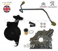 Turbo Fixation Kit & Huile Pompe & Filtre Pour Ford Peugeot 1.6 HDI TDCI DV6 90